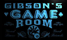 PL1116-b Gibson's Game Room Boy Man Bar Light Neon Beer Sign