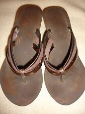 Coldwater creek sandals strappy wedge sz 10 man made materials brown bronze