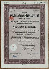 500 Reichsmark 1934 - Loan Bond - Series: 06734