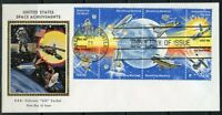 UNITED STATES COLORANO 1981 SPACE ACHIEVEMENTS BLOCK  FIRST DAY COVER