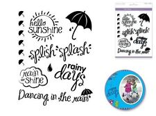 Forever in Time Clear Cling Rubber Stamp Sunny with Slowers Rainy Days