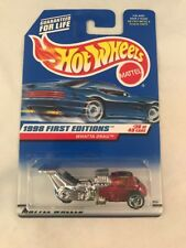 Hot Wheels 1998 First Editions Whatta Drag Red #36 of 40 Cars in Protector Pack