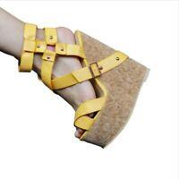 Women Cork Wedge Summer Sandals Sky High Peep Toe High Heels Platform Shoes L