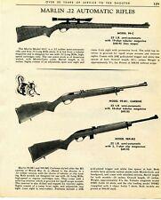 1967 Print Ad of Marlin Model 99-C M1 Carbine & 989-M2 Rifle