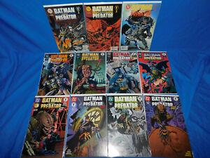 Batman versus Predator 1 2 3 Full Sets DC Dark Horse Crossover Comic 1-3 1-4