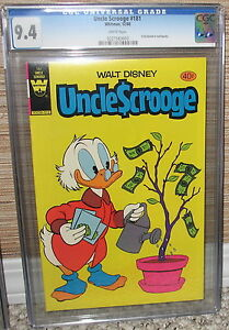 UNCLE SCROOGE #181 Walt Disney WHITMAN 12/1980 Pre-Pack Only RARE CGC NM 9.4