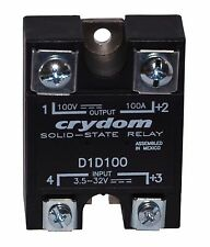 Crydom D1D100 Solid State Relay (SSR) 100A / 100V (3.5 - 32 VDC control)
