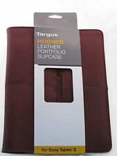 Tablet Sleeve Pouch Brown Tablet Graduate Gift! Targus Leather Slipcase 7 - 9""