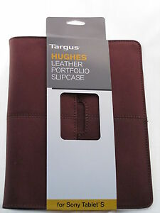 """Tablet Sleeve Pouch Brown Tablet Graduate Gift! Targus Leather Slipcase 7 - 9"""""""