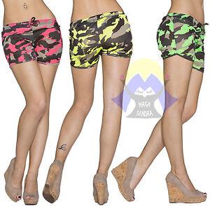 Pantaloncini DONNA Bermuda CORTE Sexy CORTI Fitness PALESTRA Mare ESTATE 22095