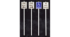 Tichy Train Group Misc Road Signs Kit #2068 8 Pieces O Scale New