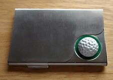 Golf Ball Design Steel Business Card Holder, Only £4.95p Each !