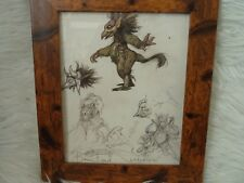 Framed Original Print Jim henson Labyrinth loot crate DX #19 creatures bowie
