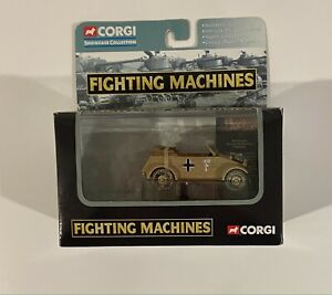 2002 Corgi Fighting Machines El Alimein Kubelwagen Afrika Corps Diecast Car NIB