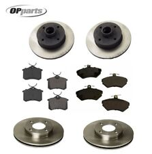 For Volkswagen Cabrio Golf Front & Rear Disc Brake Rotors & Pads KIT