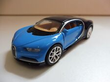 PROMO Bugatti Chiron 2017 Bleu 1/36 Welly NEUF Boite d'origine