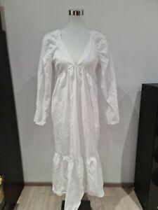 Damen Kleid Gr. S 36 Weiß Asos