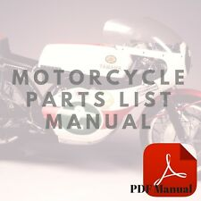 Yamaha 1973 RD350 1974 RD350A 1975 RD350B Parts List Motorcycle Manual