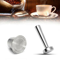 Refillable Coffee Capsules Cup For Nespresso Reusable Filter Stainless Steel!/