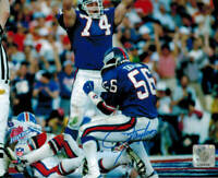 Lawrence Taylor Signed Giants Super Bowl XXI Celebration 8x10 Photo - SCHWARTZ