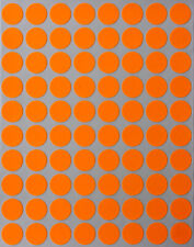 Neon Orange Color Labels In Various Sizes 8mm 38mm 1 15 Sheets