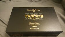 ROCKY PATEL TWENTIETH ANNIVERSARY NATURAL BLACK WOOD CIGAR BOX - NICE!