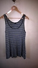 SPORTSGIRL 100% VISCOSE SIZE S STRIPED VEST.