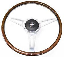 Mustang Steering Wheel Kit Lecarra Style Wood with Mustang Emblem  1965 - 1966