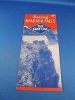 ADVERTISING BROCHURE SEEING  NIAGARA FALLS GRAY LINE BUS TOUR SCHEDULE 1936