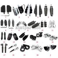 2*Motorcycle Highway Crash Bar Foot Pegs Pedal Mount For Harley-Davidson Touring