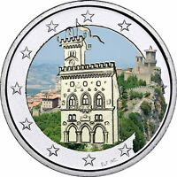 San Marino 2 Euro 2012 Regierungspalast Münze bankfrisch in Farbe