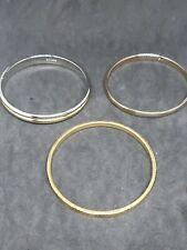 Lot of 3 Bangle Bracelet Monet. 15K