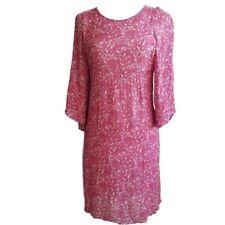 See by Chloe Pink Women's Size 4 Dart Waist Floral Wool Blend Dress