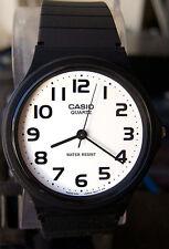 Casio MQ-24-7B2 Analog Watch Bold White Face Casual Sport Thin Analogue NEW