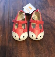 Gymboree Baby Girl Fox Dressy Shoes Pink Coral Size 3-6 Months NWT