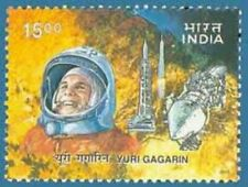 INDIA 2001 Yuri Gagarin Astronomer Astronomy Space First Space Flight stamp 1v
