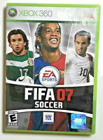 FIFA Soccer 07 Microsoft Xbox 360 Complete CIB Football Video Games Gaming READ*