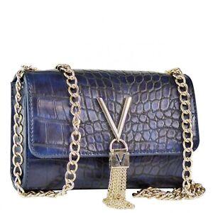 VALENTINO BAGS Audrey Damen Abendtasche Umhängetasche Schultertasche Clutch Blau