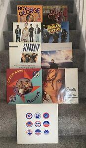 "9 x 12"" Vinyl 12"" Singles Bundle, Job Lot. All In Good Condition + 80s Pop 3525"