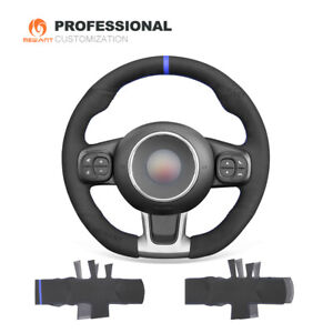 Synthetic Suede Steering Wheel Cover for Abarth 595 595C 695 695C Fiat 500 500C