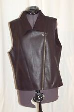 C & C California Women's Vest Faux Fur Shearling Side Zipper Sleeveless Size L/G