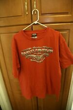 Harley Davidson Chrome Classic 1903 Men Orange T-shirt Size 2XL chicago palatine