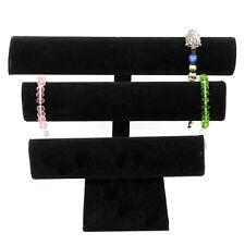 Black Velvet Jewelry Display Triple Bracelet Display Jewelry Stand Dsp0002
