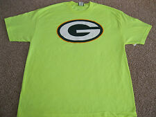 "Green Bay Packers ""G:"" Short Sleeve T Shirt - Adult XL - Neon Yellow - New"