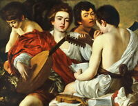 Caravaggio The Musicians Giclee Canvas Print Paintings Poster Reproduction