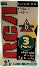 VHS Blank Tapes Lot of 3 RCA T-120H Standard Grade 6 Hour Videotapes New