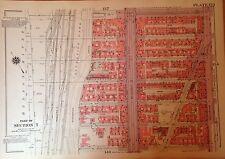 1955 HARLEM CCNY MANHATTAN NYC G.W. BROMLEY PLAT ATLAS MAP 12 X17