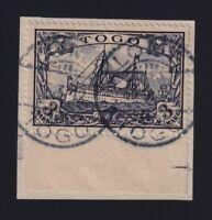 Togo #18 (1900) 3m black violet Kaiser's Yacht Used Lome CDS