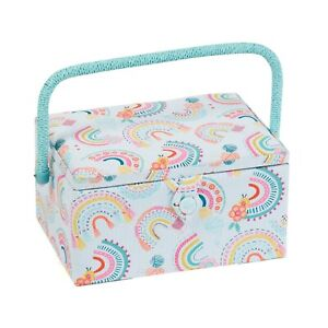 SEWING BASKET BOX 'RAINBOW' DESIGN Medium Size SUPER QUALITY MRM586