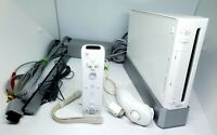 Authentic Nintendo Wii WHITE Video Game Console System RVL-001 GameCube Port